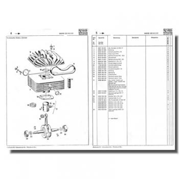 schreiber ersatzteilliste sachs 501 4 ckf. Black Bedroom Furniture Sets. Home Design Ideas