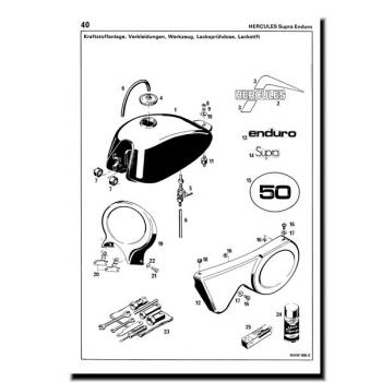 schreiber ersatzteilliste hercules supra. Black Bedroom Furniture Sets. Home Design Ideas