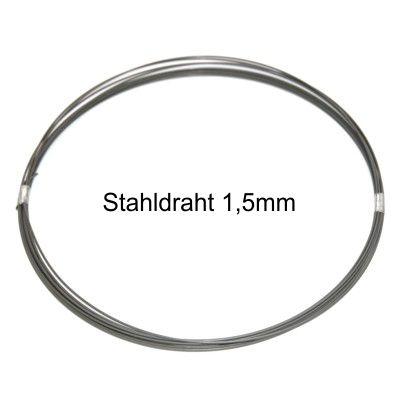 schreiber-zweiradshop.de - Stahldraht 1,5mm Rolle 10m