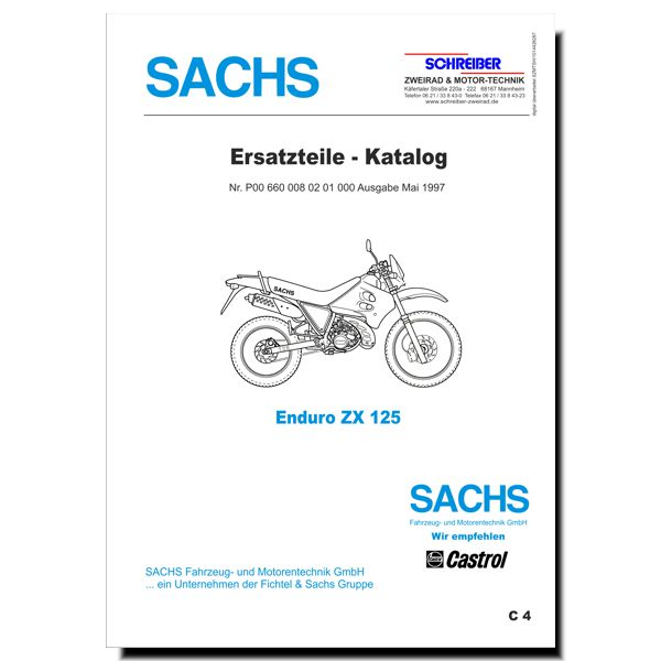 schreiber ersatzteilliste sachs enduro zx125 2 takt. Black Bedroom Furniture Sets. Home Design Ideas