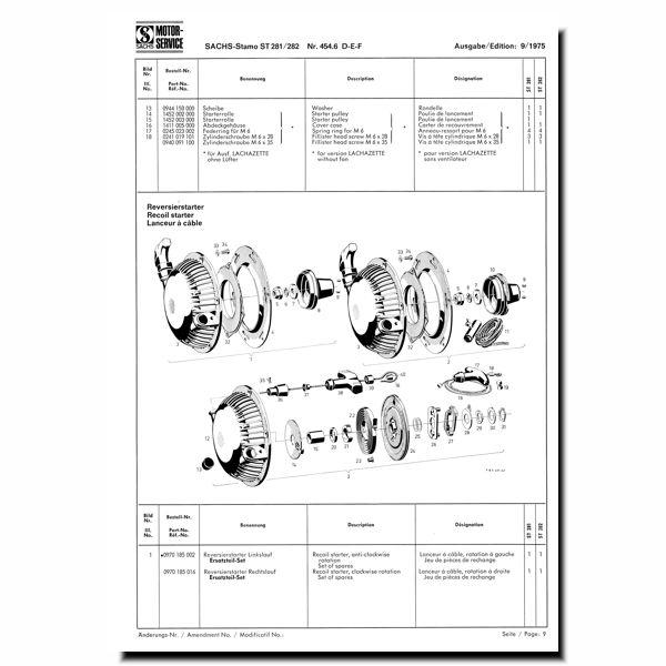 Stromerzeuger oder Bungartz Einachser Sachs Stamo St 281 282 Auspuff für z.B